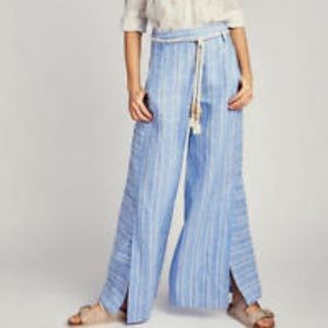 Anthropologie ETT TWA Striped Linen Pants